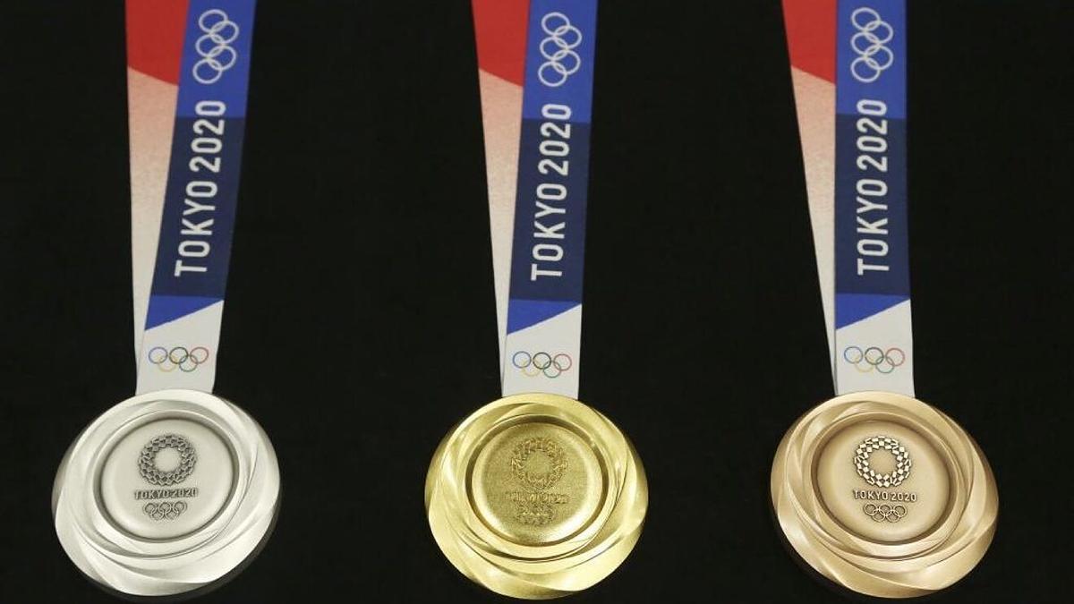 Éstas serán las medallas de Tokio 2020: oro, plata y bronce.