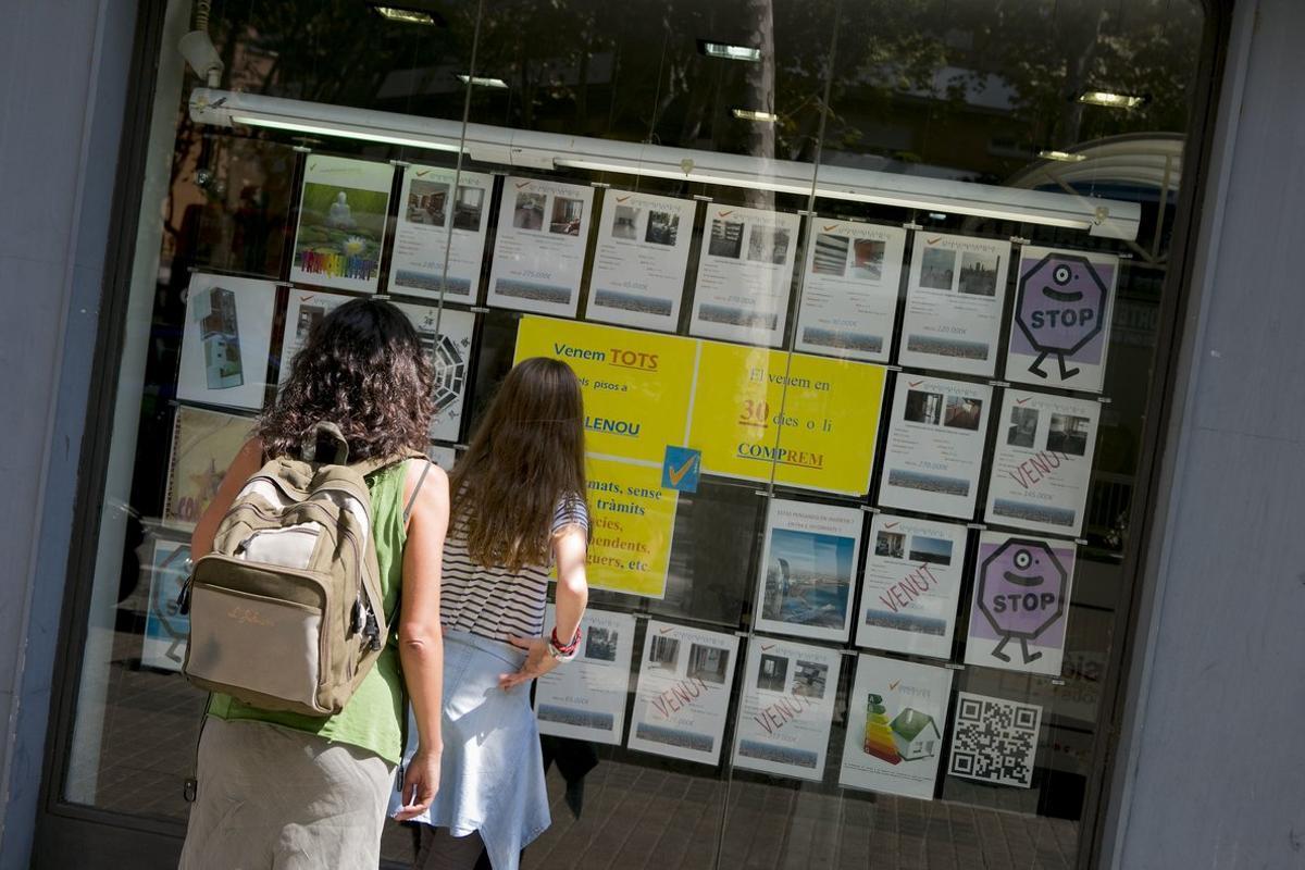 Els lloguers pugen 30 vegades més que els sous a Catalunya en l'últim lustre
