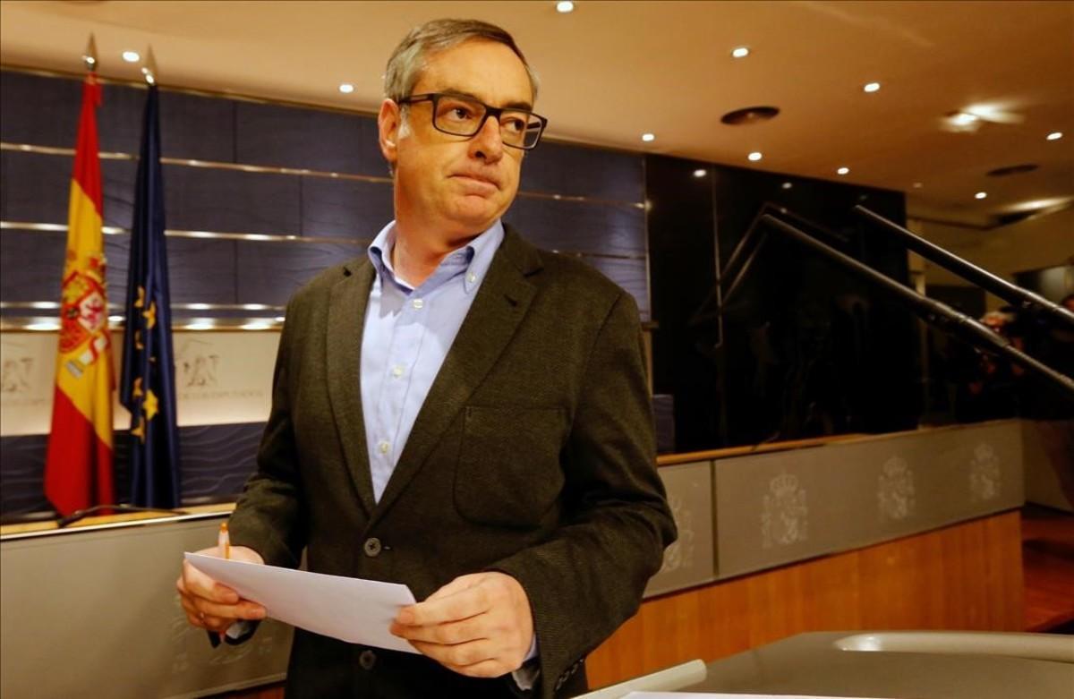 El vicesecretario general de Ciudadanos, José Manuel Villegas, en rueda de prensa.
