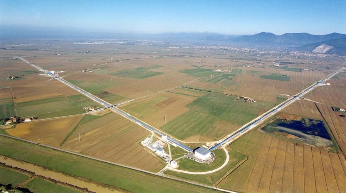 Instalaciones del observatorio europeo de ondas gravitacionales VIRGO, emplazado en Cascina, cerca de la ciudad italiana de Pisa.