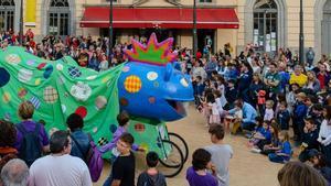 Imagen de archivo de una fiesta mayor en Catalunya.