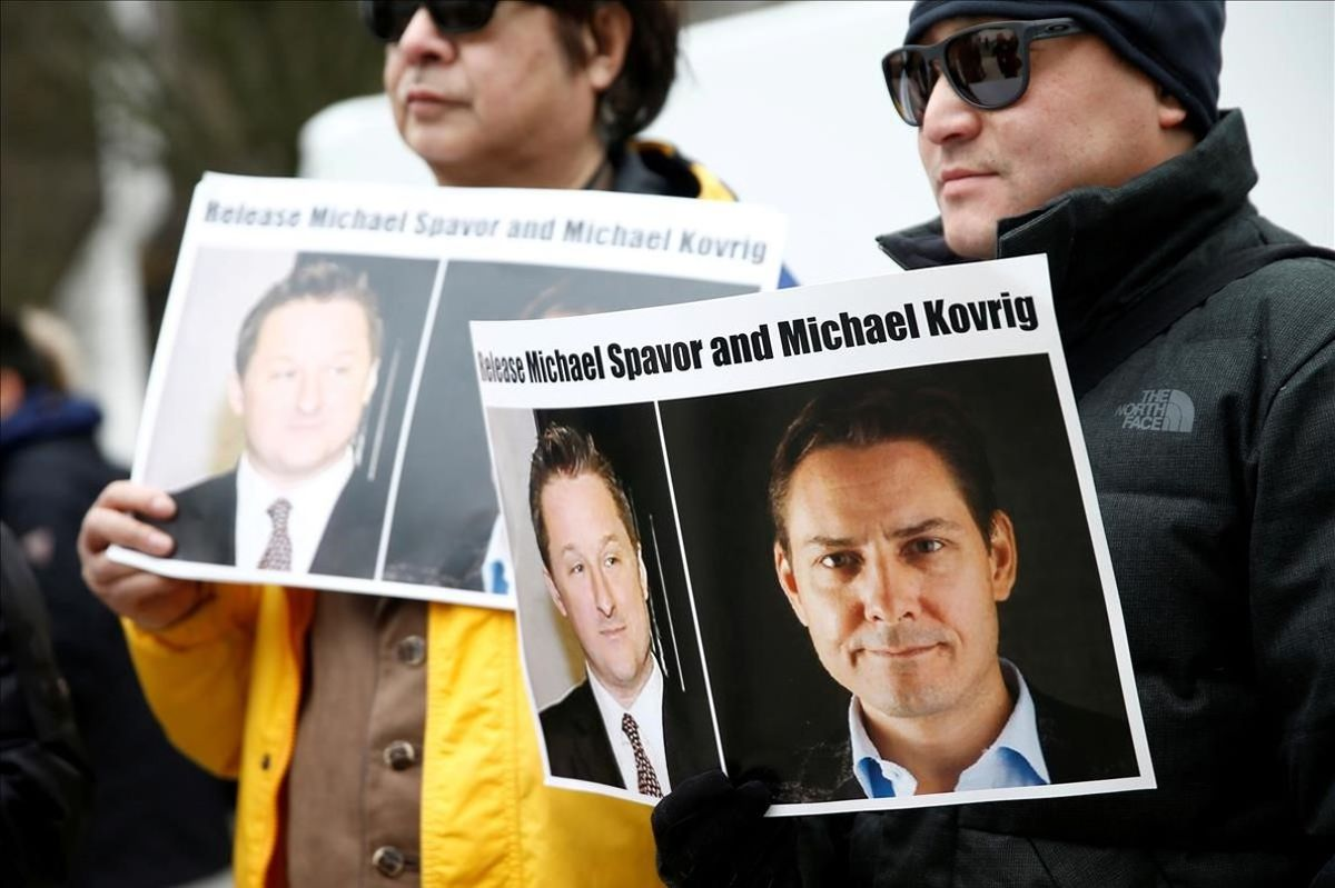 Manifestación en Vancouver para pedir la liberación de Spavor y Kovrig.