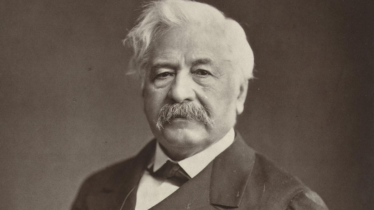 Retrato del exdiplomático y Duque de Suez Ferdinand de Lesseps