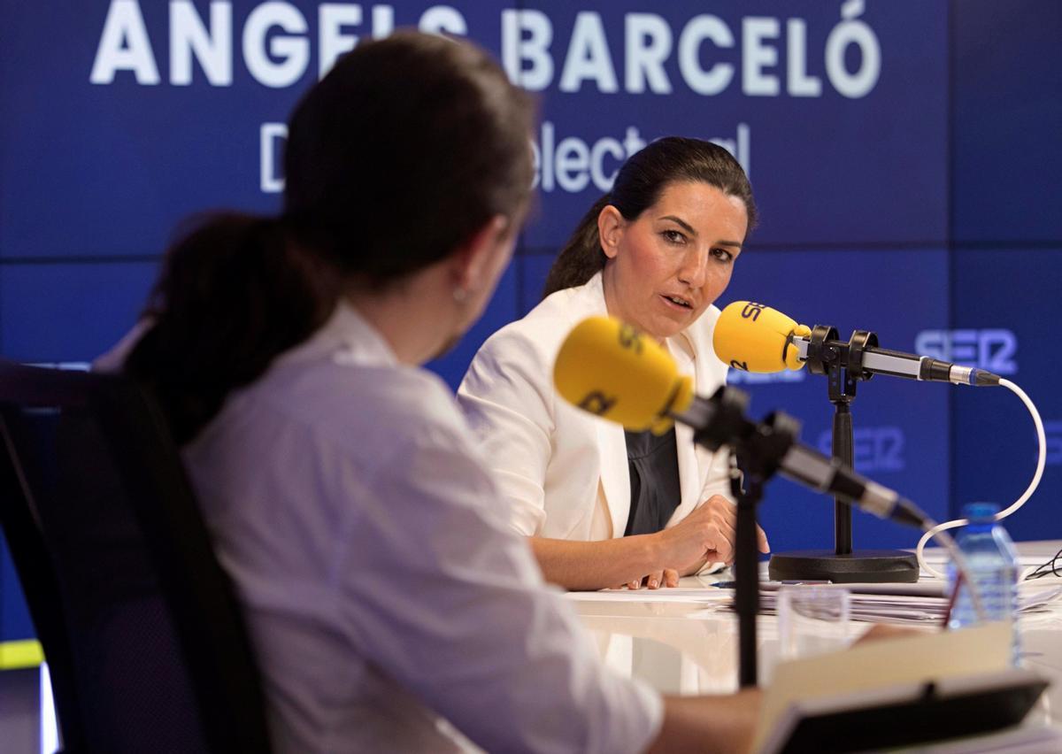 Tensión entre Rocío Monasterio y Pablo Iglesias en el debate de la SER.