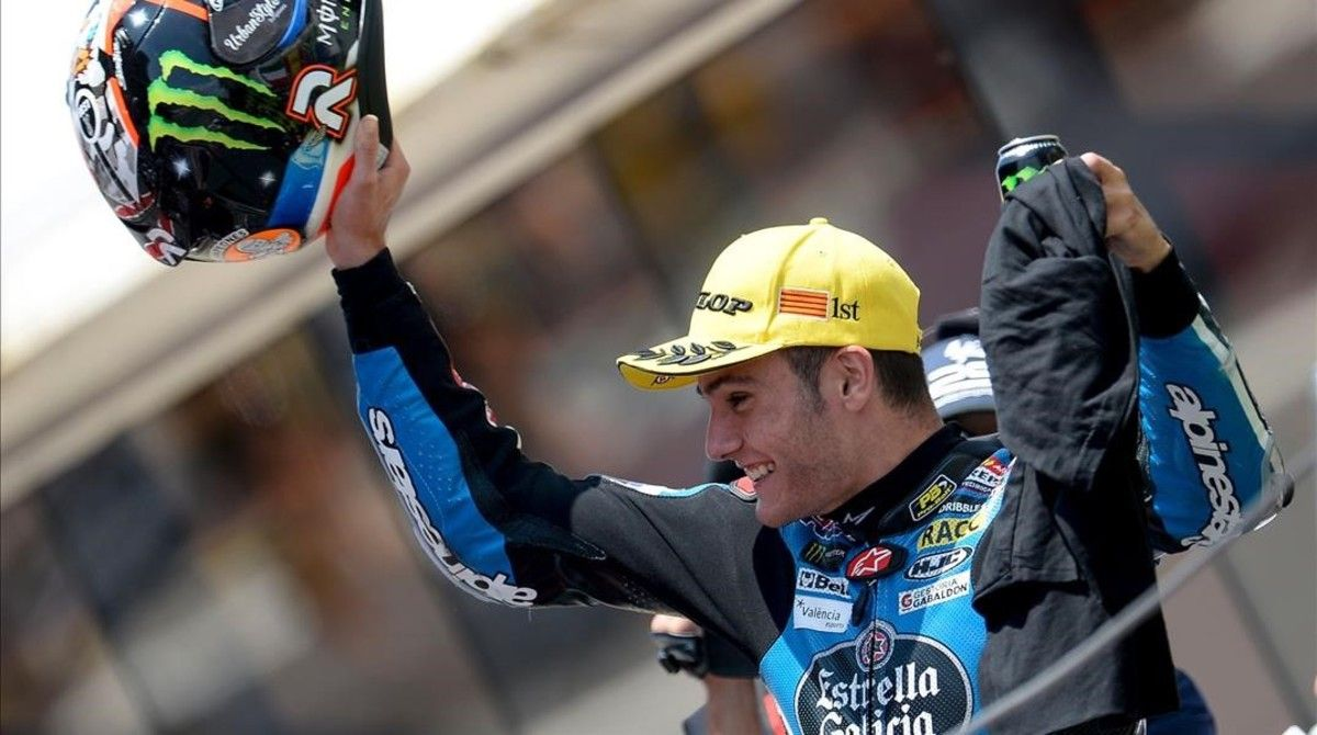 Jorge Navarro, en el podio de Montmeló.