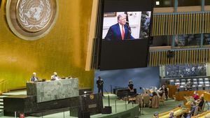 La Asamblea General de la ONU en Nueva York sigue la intervención por vídeo del presidente de Estados Unidos, Donald Trump.