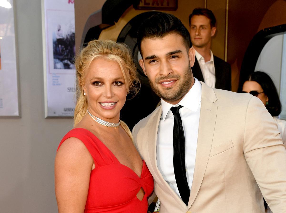Britney Spears y Sam Asghari, en la 'premiere' de 'Érase una vez en Hollywood', en California, en 2019.