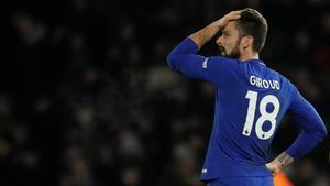 Giroud, con la camiseta del Chelsea.