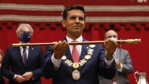 Pleno del Ayuntamiento de Granada para la elección del nuevo alcalde de la ciudad, Francisco Cuenca del PSOE.