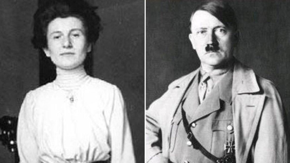 Hedwig Kohn y Adolf Hitler.