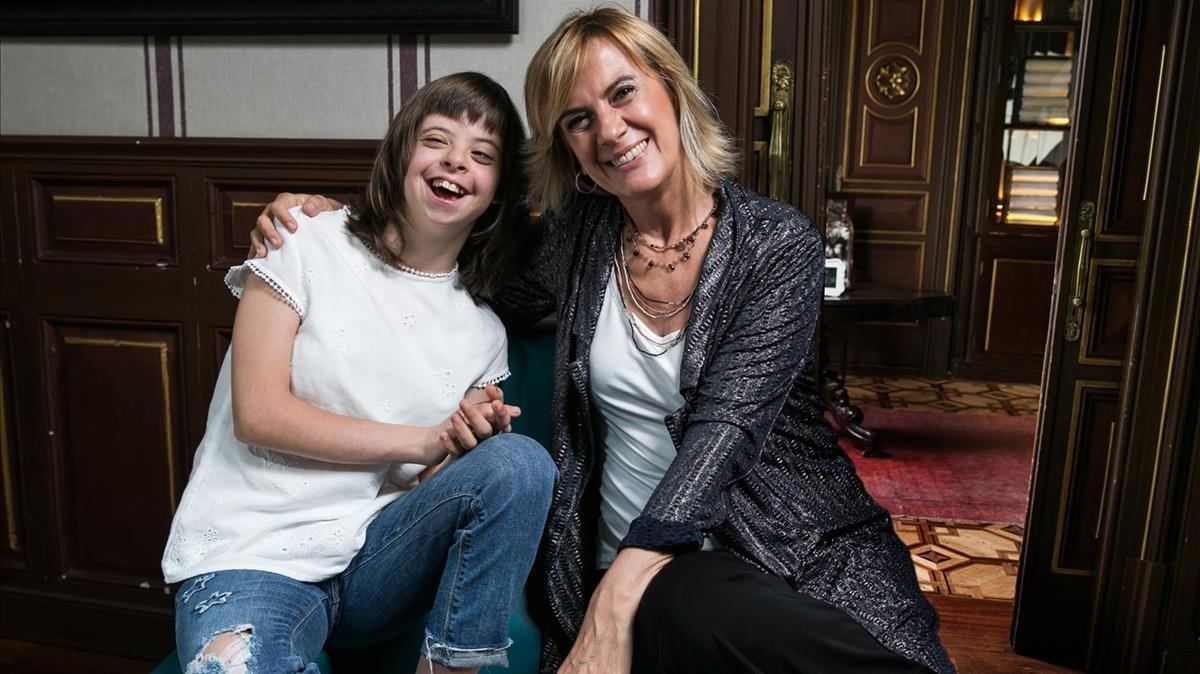 Gemma Nierga, con Noelia.