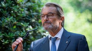 Artur Mas anuncia que sigue en el PDECat y afea al partido de Puigdemont que divida el espacio posconvergente, el 14 de septiembre del 2020.