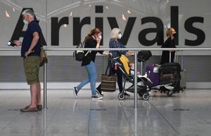 Terminal de llegadas del aeropuerto de Heathrow, en Londres.
