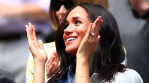 Meghan Markle anima a Serena Williams en la final del Us Open de Nueva York.