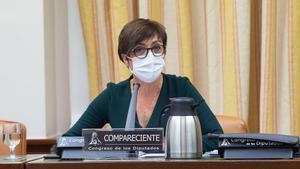 María Gámez, directora general de la Guardia Civil, en la comisión de Interior del Congreso.