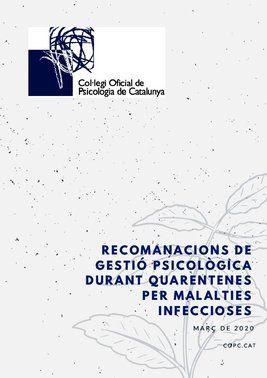Guía de gestión psicológica de cuarentenas.
