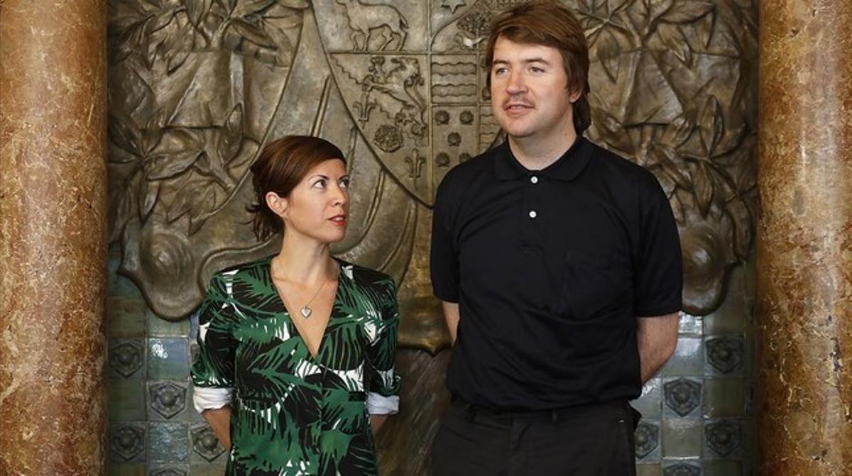 Chus Martínez y Albert Serra, durante la presentación del proyecto para la Bienal de Venecia.