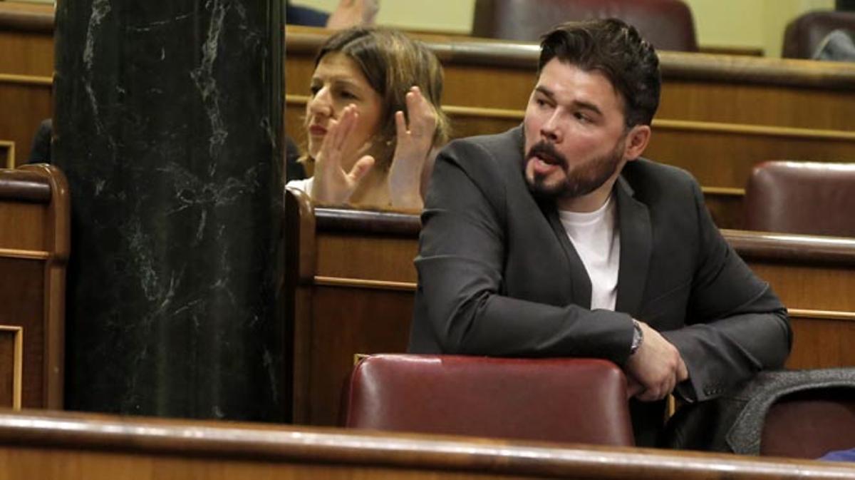 Rufián ha invitado a usar el servicio de Rodalies al presidente del Gobierno, Mariano Rajoy.