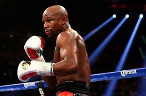 Foto del boxeadorFloyd Mayweather en el ring.