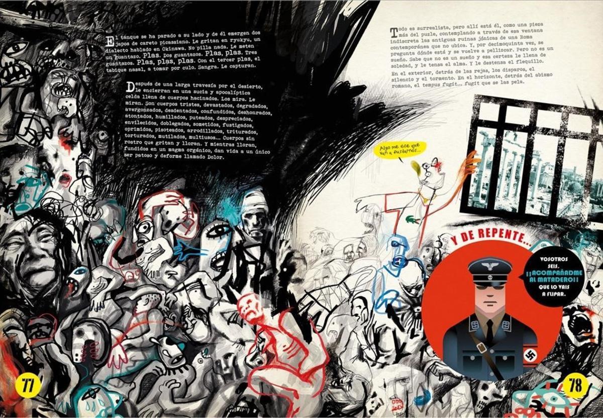 Doble página de 'El niño Nada', el nuevo cómic del dibujante e ilustrador Víctor Escandell.