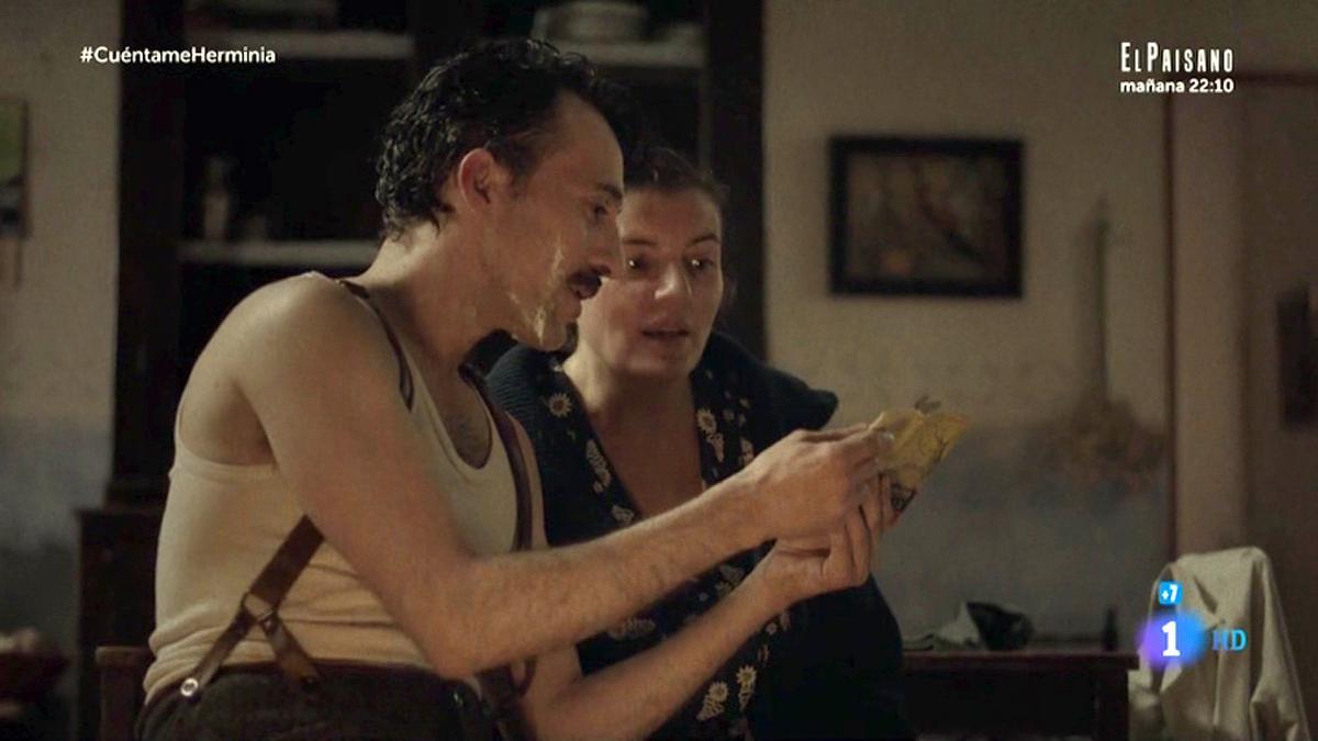 Herminia aprendió a leer con Machado.