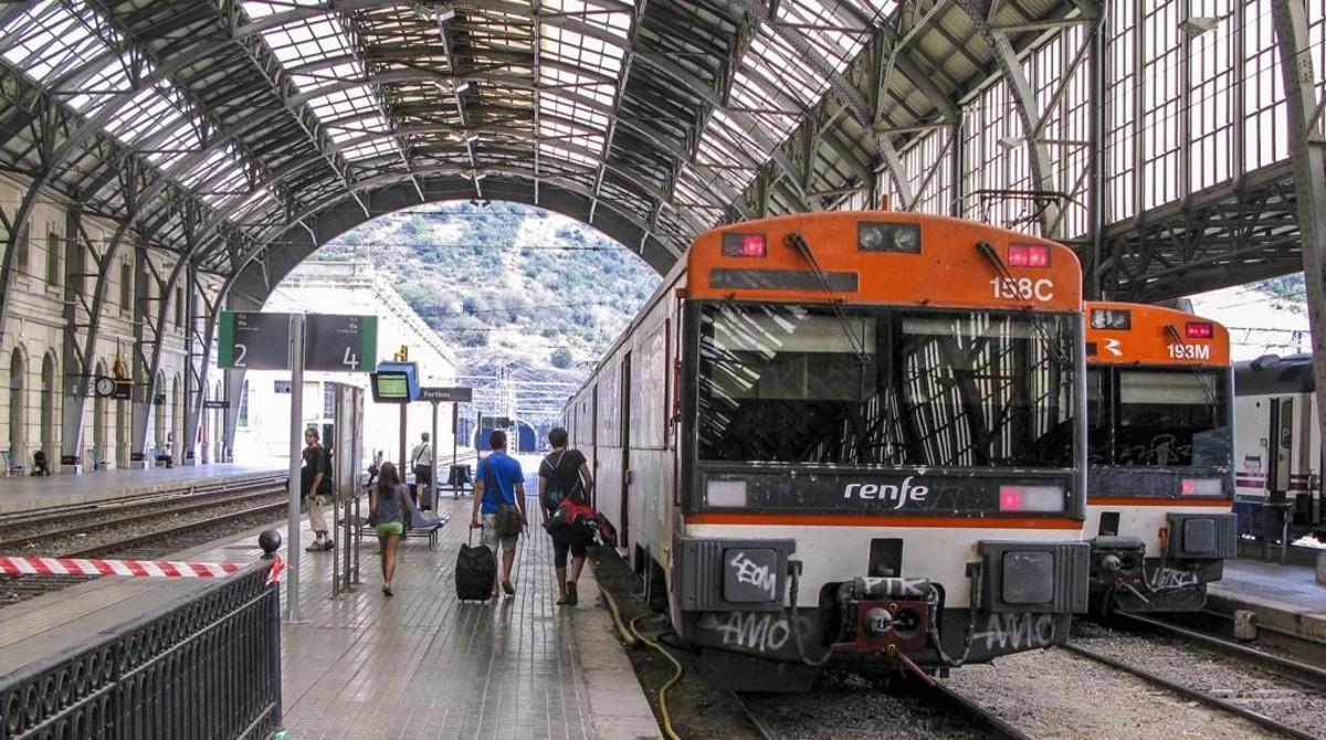 Estación de Renfe en Portbou.