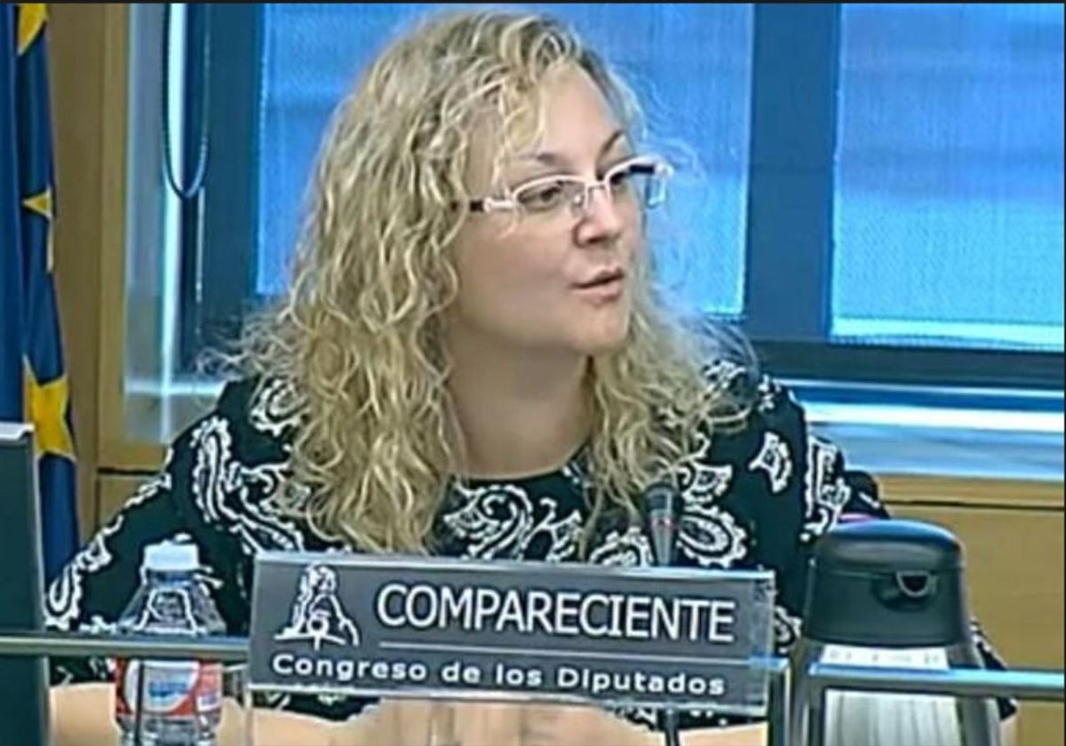 María Sevilla, presidenta de Infancia Libre, y acusada del secuestro de su hijo.