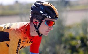 Pello Bilbao, en una imagen durante este Giro.
