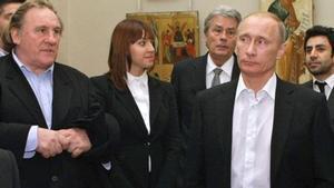 Depardieu y Putin, en un encuentro en el Museo Ruso de San Petersburgo, en diciembre del 2010.