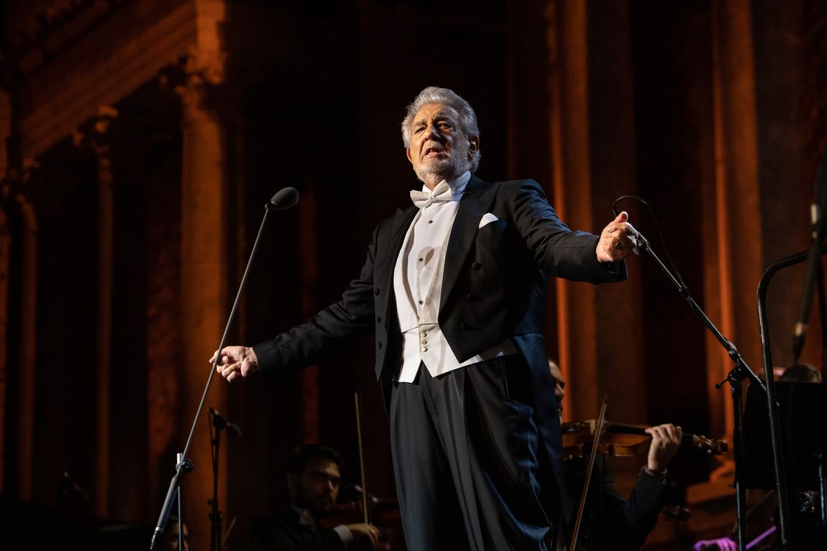 El tenor Plácido Domingo, durante el concierto