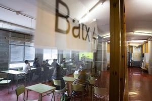 Una clase de Bachillerato en un instituto de Catalunya.