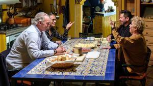 Bertín Osborne, Pitingo, Miguel Poveda y María Jiménez en 'Mi casa es la tuya'.