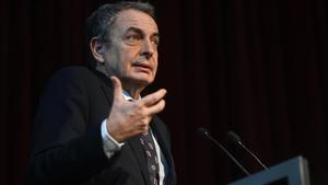 José Luis Rodríguez Zapatero, en un acto en Barcelona, en febrero del 2020.
