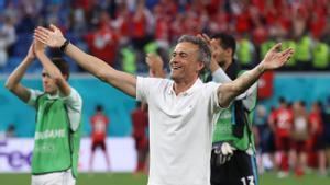 Luis Enrique celebra la victoria