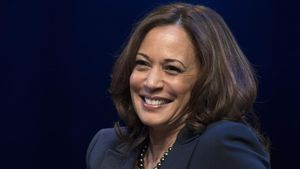 Kamala Harris, en un acto en la Universidad George Washington en enero del 2019.