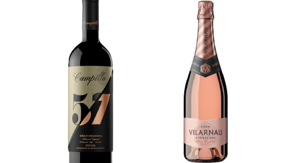 Campillo 57 Gran Reserva 2013 y Vilarnau Ecológico Brut Rosado Reserva, elegidos mejores vinos de España 2021.