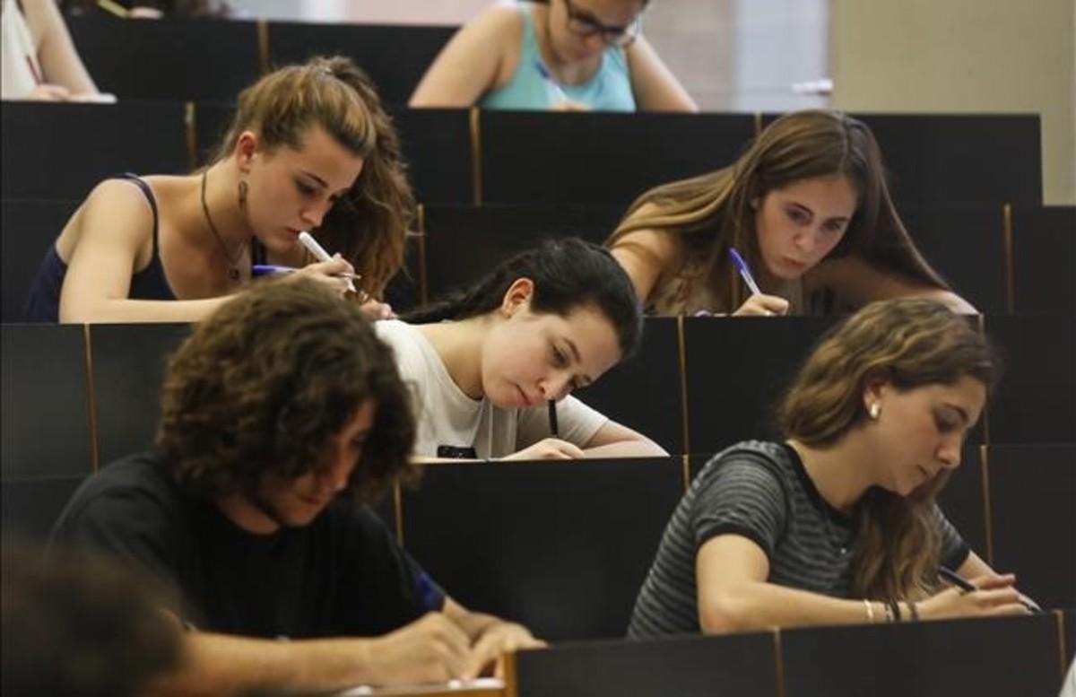 Pruebas de acceso en la Universitat Pompeu Fabra.