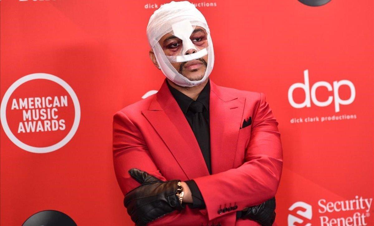 The Weeknd, en la gala de los American Music Awards, el pasado domingo en Los Ángeles.