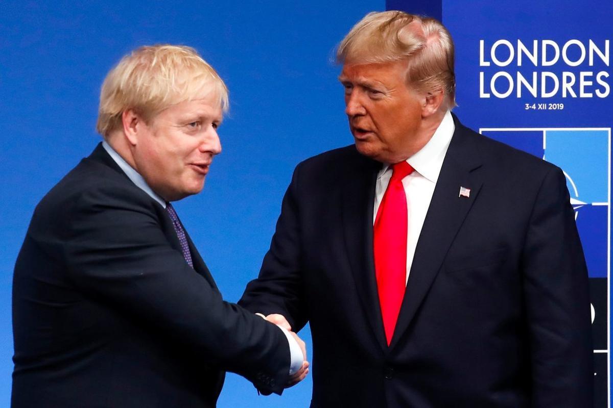 Trump y Johnson, el pasado diciembre en una cumbre de la OTAN.