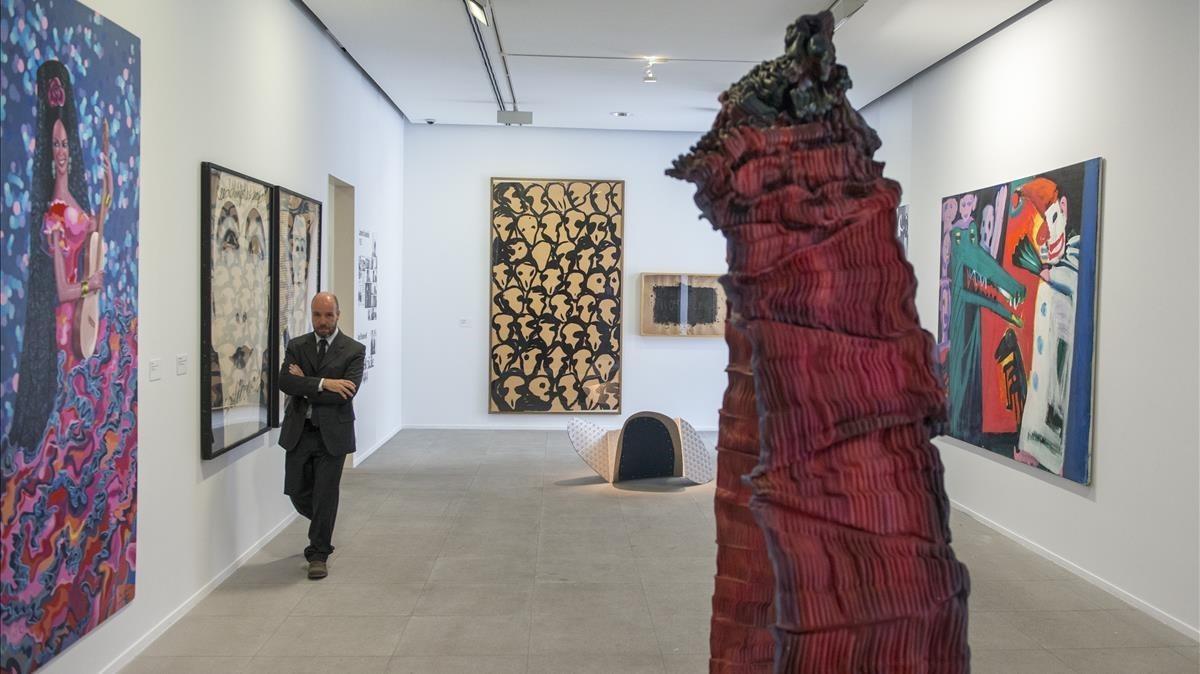 Una de las salas dela muestra de la Fundació Suñol sobre el galerista Fernando Vijande.