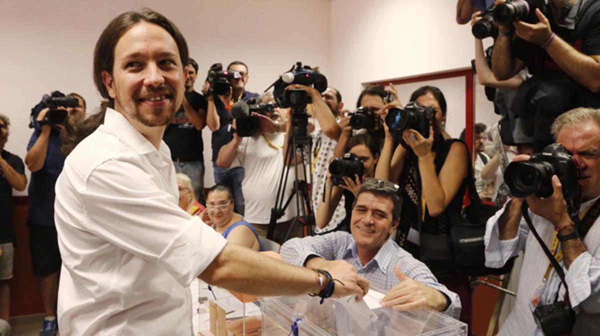 """Iglesias sale """"a ganar"""" pero tiende la mano al PSOE"""