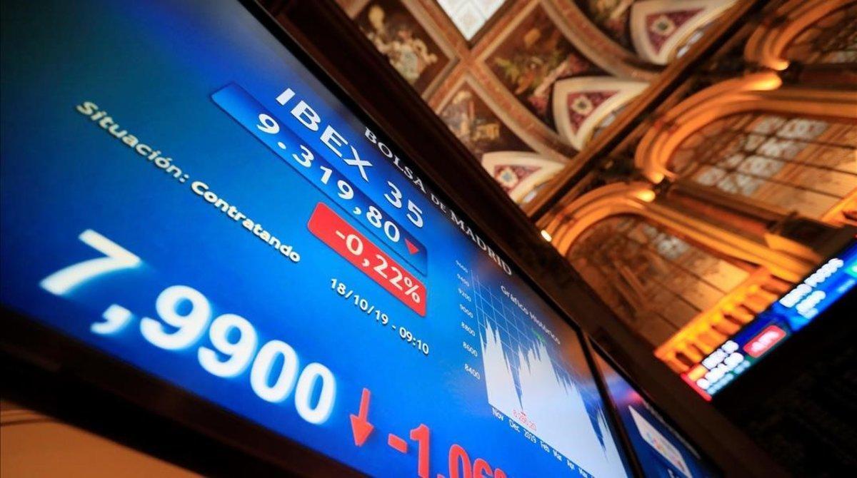 Una vista de la Bolsa de Madrid correspondiente al 18 de octubre.