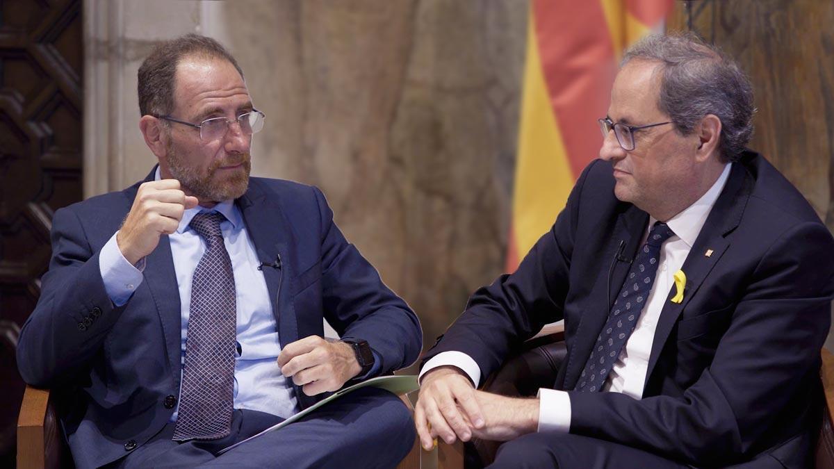 Resumen de la entrevista con el 'president' de la Generalitat, Quim Torra.