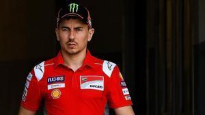 El tetracampeón de MotoGP Jorge Lorenzo no acaba de adaptarse a su Ducati.