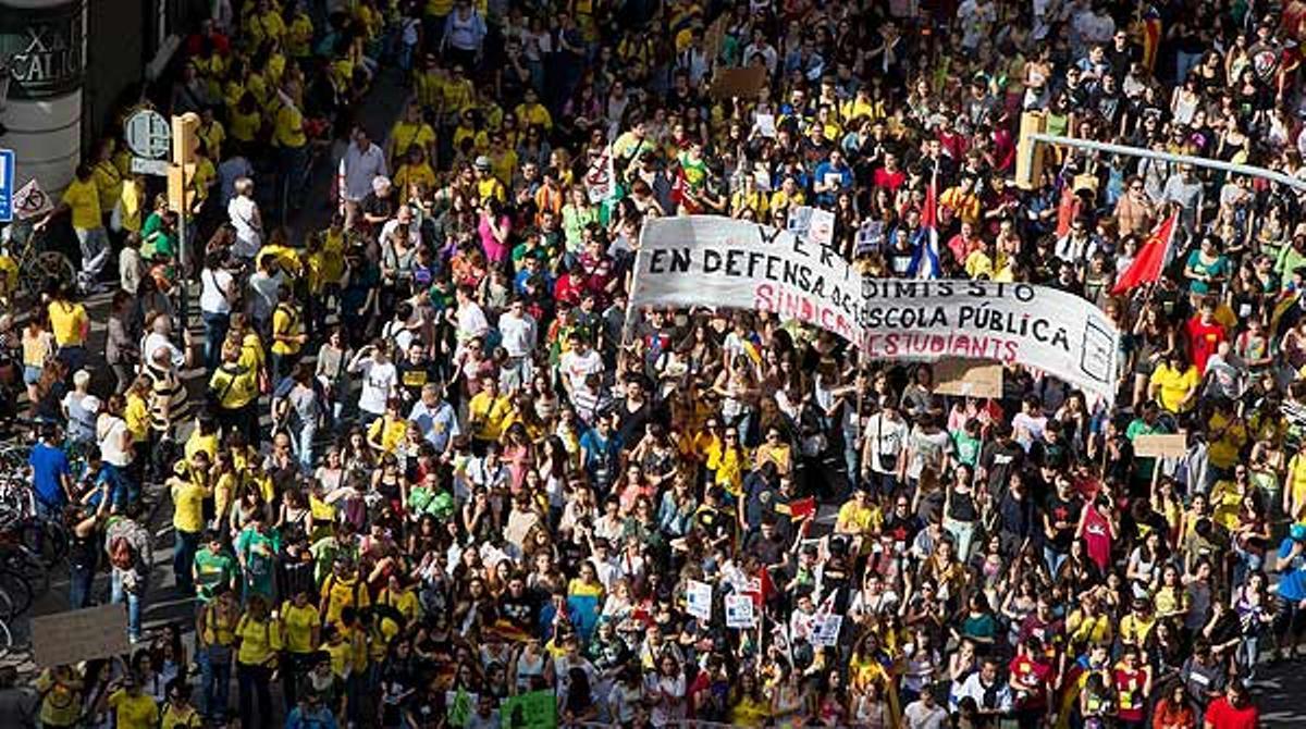 Manifestación contra la LOMCE en Barcelona.