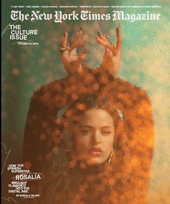 Rosalía es la protagonista de la portada del 'New York Times'
