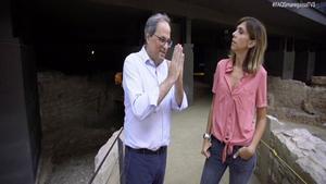 Quim Torra y Cristina Puig, en el Born.