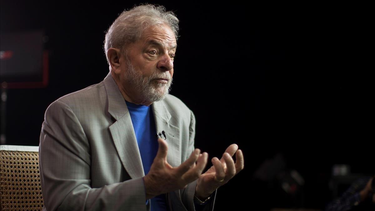 El expresidente Lula da Silva en noviembre del 2019 en una entrevista en Sao Paulo (Brasil).