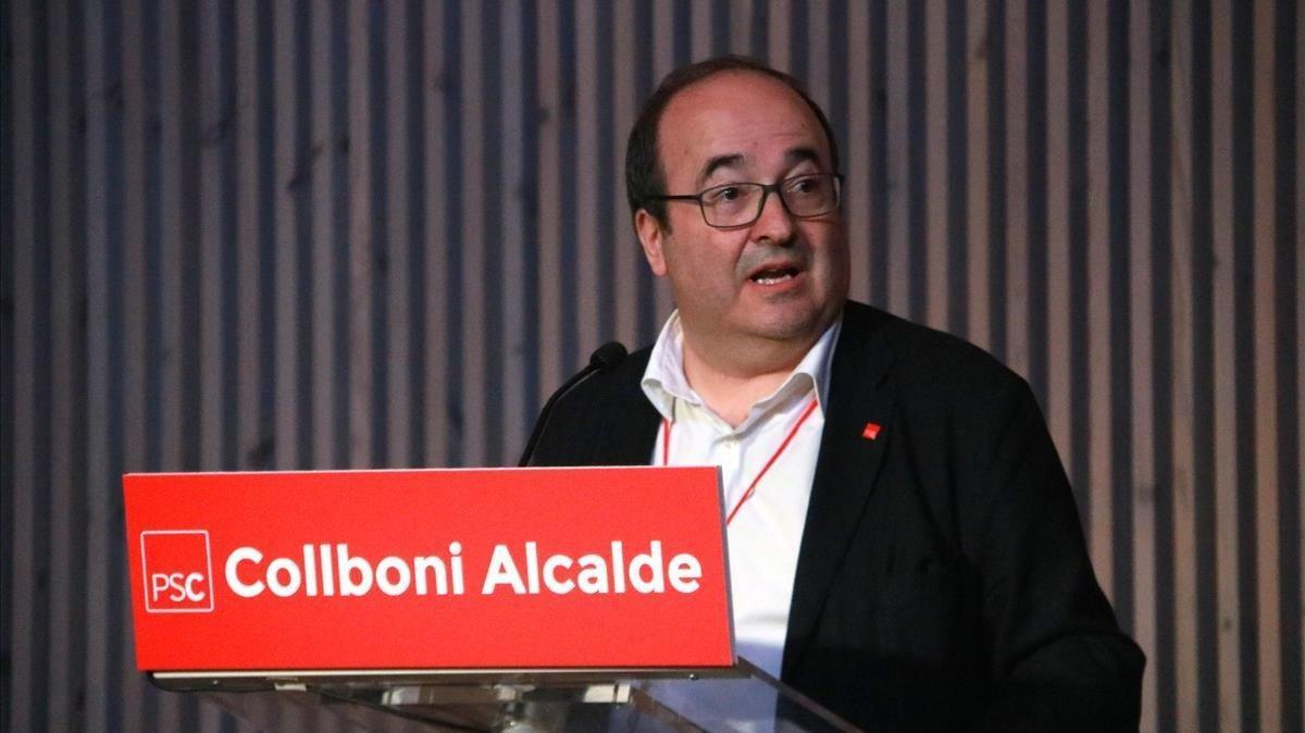 El primer secretario del PSC, Miquel Iceta, en una convención del PSC.