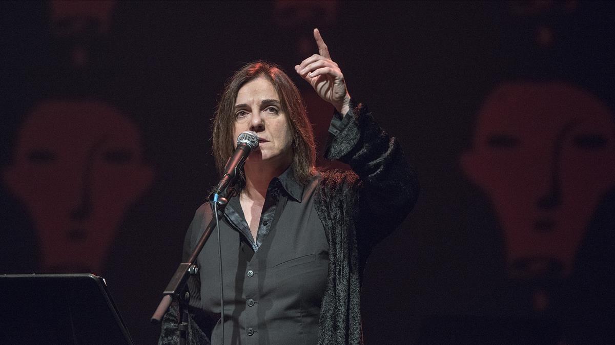 Sílvia Comas, en el concierto de homenaje a Ramon Muntaner